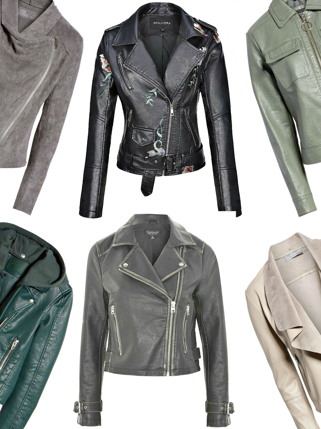 Women's leather jacket is the most popular outerwear choice for transitional weather. Here are 7 styles for under $100 and they're cute,too. Take a look!