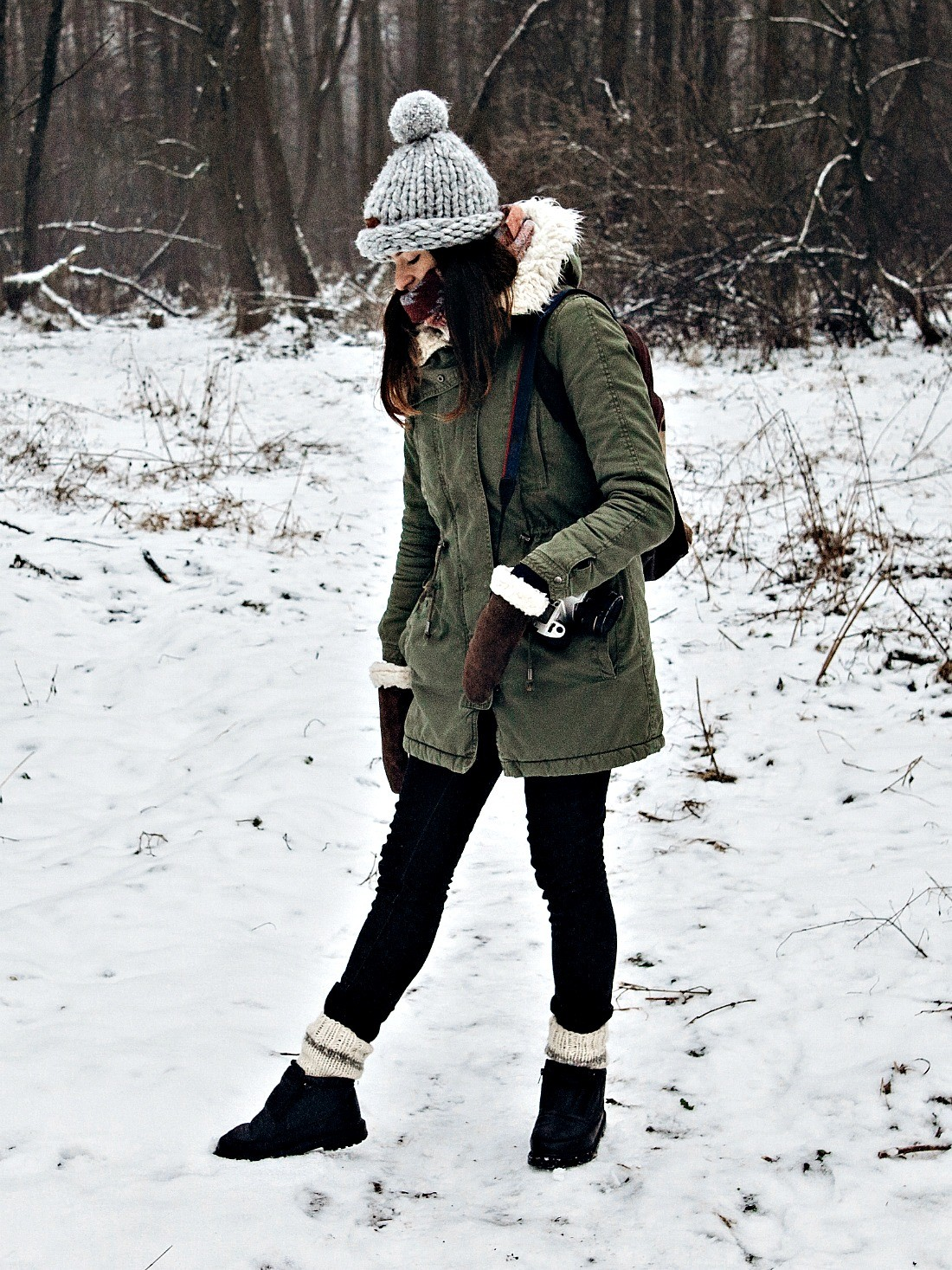 winter snow outfit idea no freezing moment