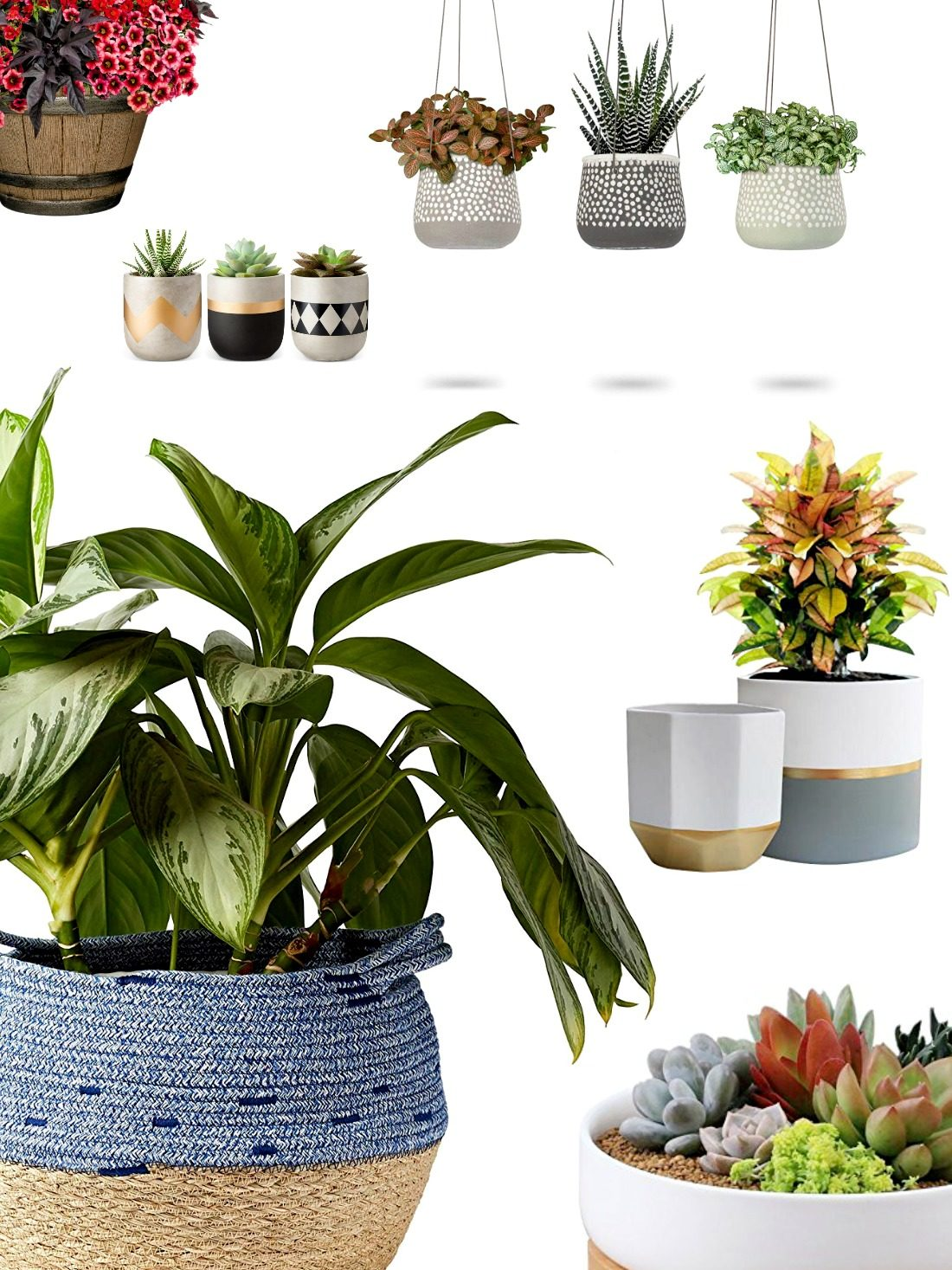 Pick out your favorite pots & planters in this selection of gorgeous options to re-energize your home and wake up your patio to spring!