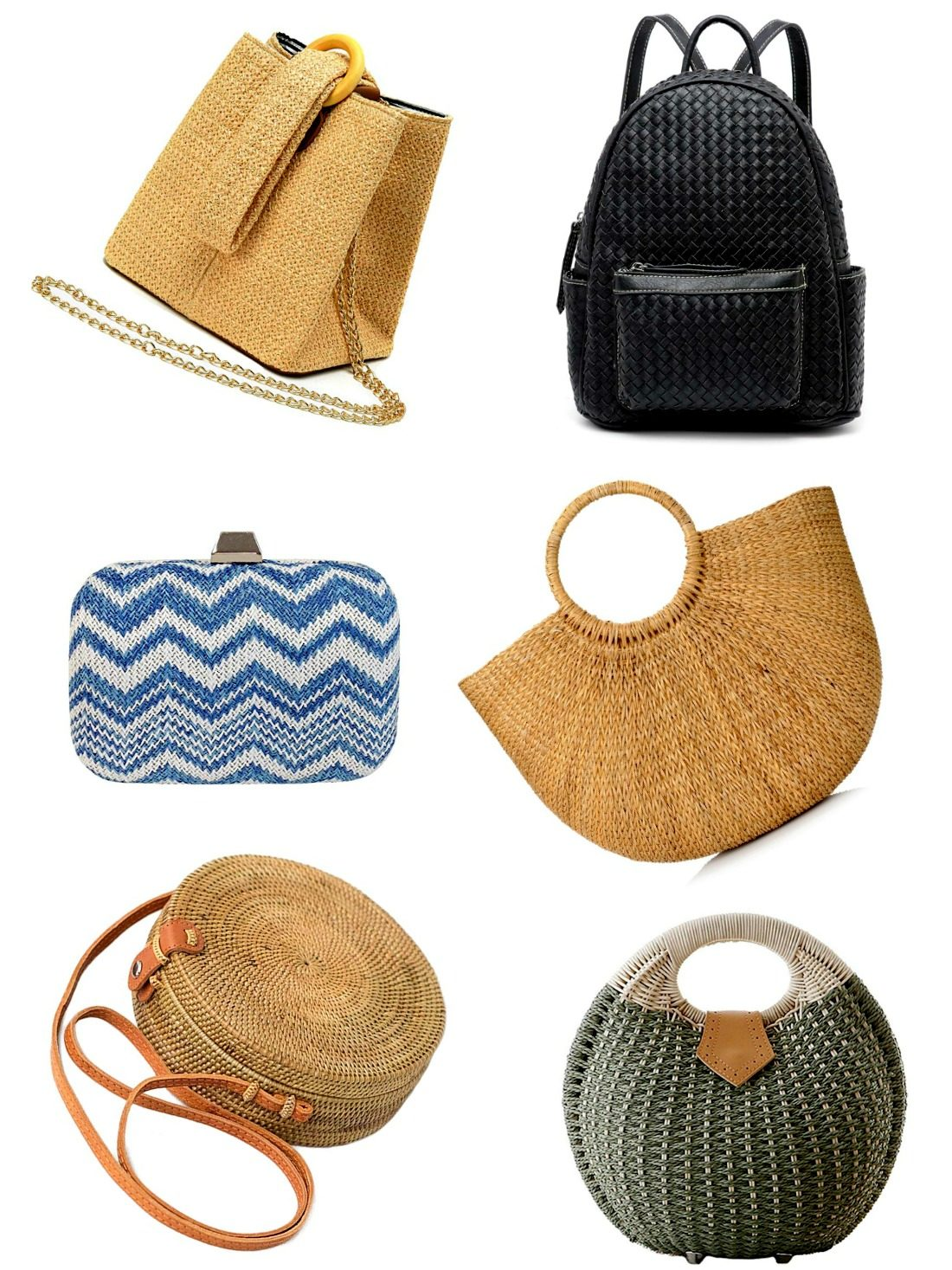 Let's not limit the woven bag to the beach alone - take it to your evening out too! Have a look at our list and pick them up before you miss them. Your days shall be covered!