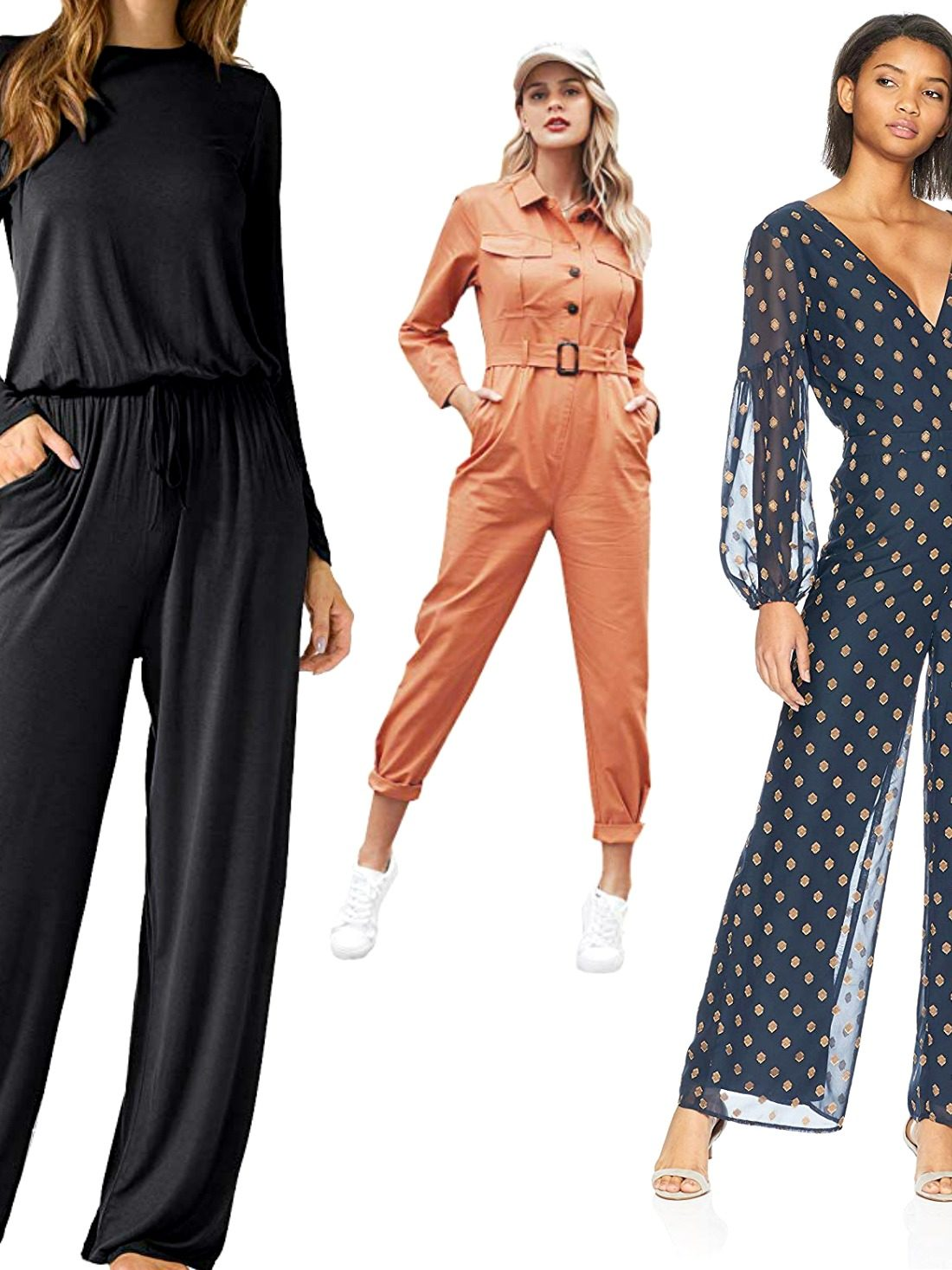 When you want something chicer than a dress, a playsuit saves the day! Get a peek of our best long sleeve jumpsuit that works for fun and the office.